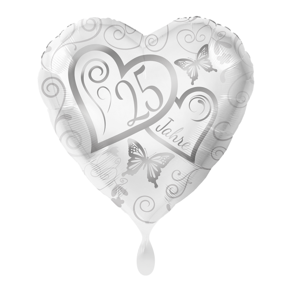 1 Ballon - Herzen 25 Jahre