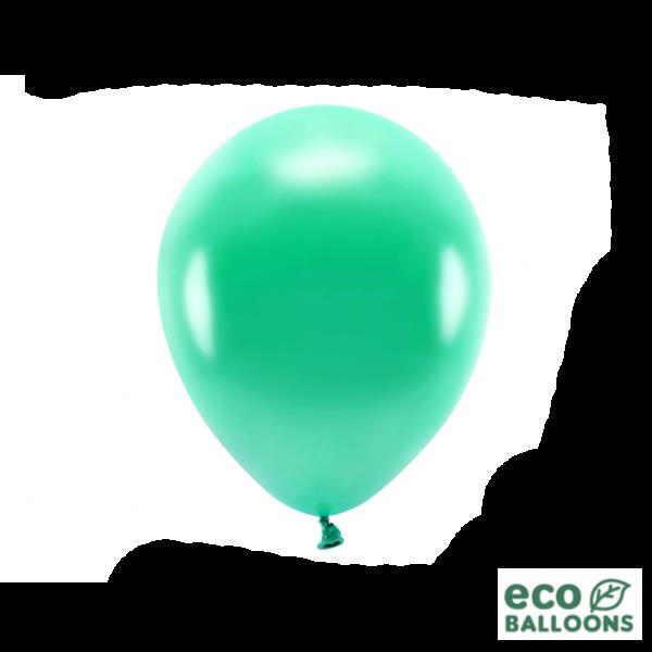 100 ECO-Luftballons - Ø 26cm - Metallic - Green