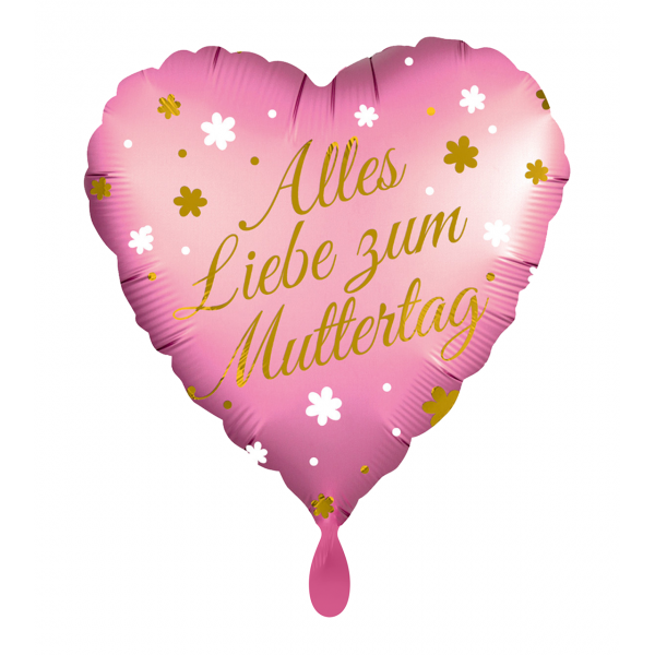 1 Ballon - Mother´s Day Heart German Wording