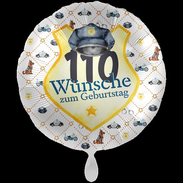 1 Ballon XXL - Police Academy - 110 Wünsche
