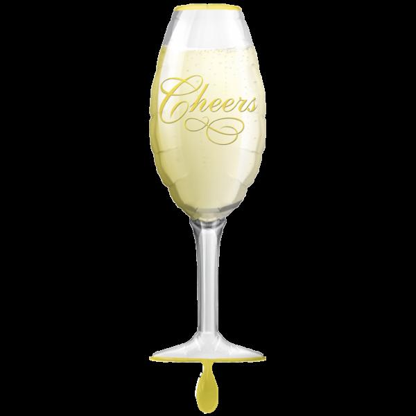 1 Ballon XXL - Champagne Glass