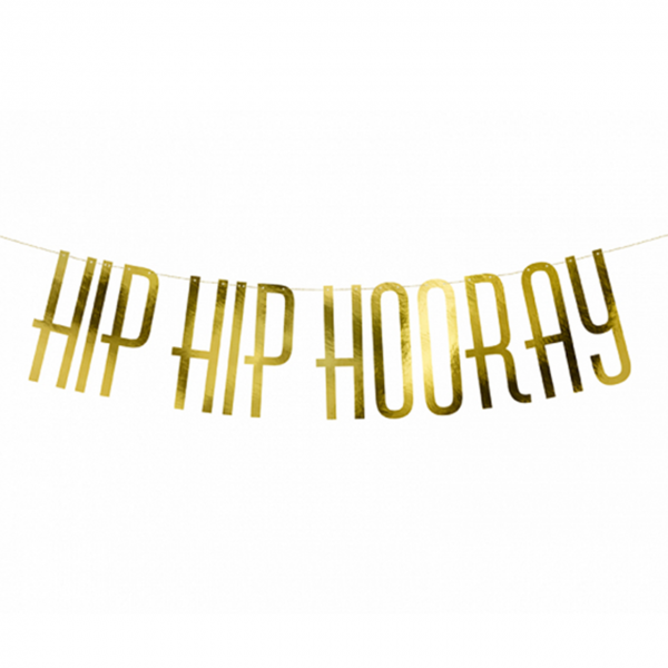 1 Bannergirlande - Hip Hip Hooray