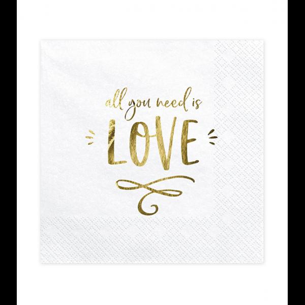 20 Servietten Trend - 33cm - All you need is love