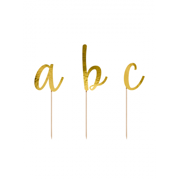 53 Cake Topper - Alphabet - Gold