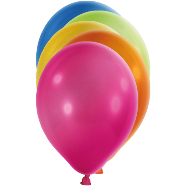 100 Luftballons - Ø 30cm - Metallic - Bunt