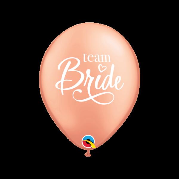 6 Motivballons - Ø 27cm - Team Bride