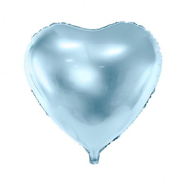 1 Ballon - Herz - Hellblau