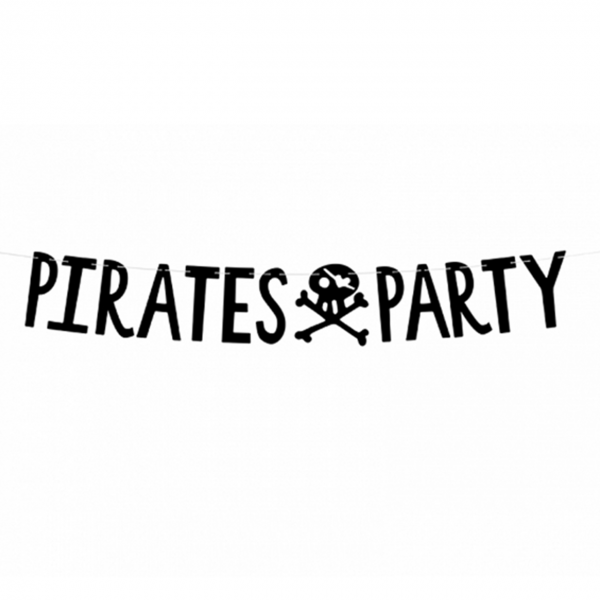 1 Bannergirlande - Pirates Party