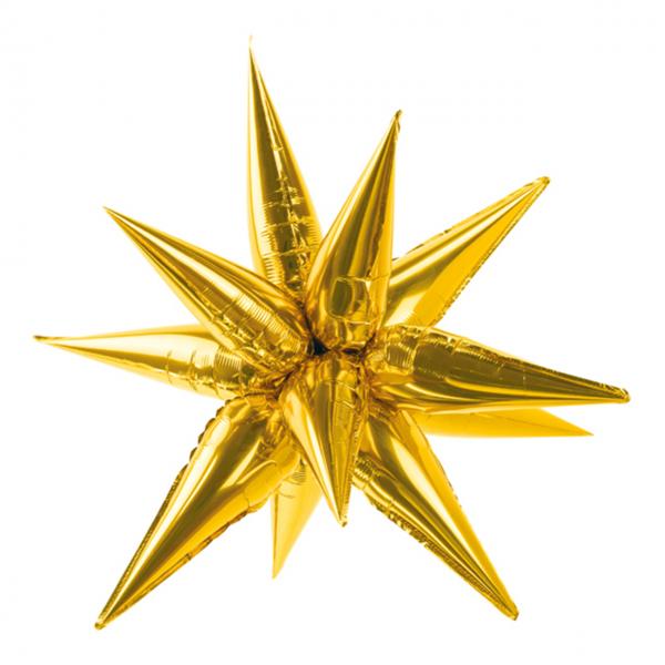 1 Ballon XXL - Stern 3D - XL - Gold