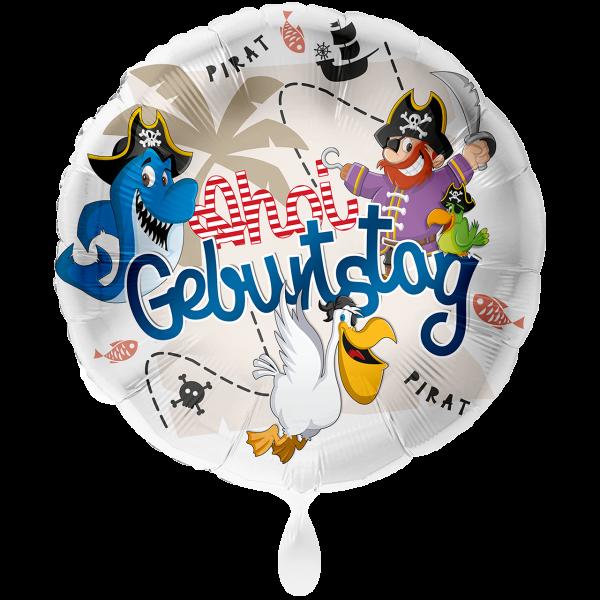 1 Ballon XXL - Geburtstag Pirat Ahoi