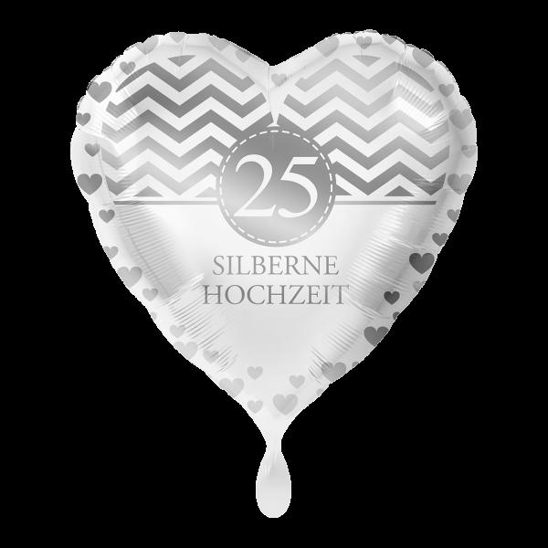 1 Ballon - Silberne Hochzeit