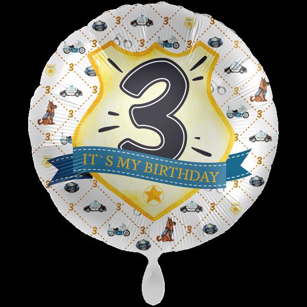 1 Ballon XXL - Police Academy - Drei