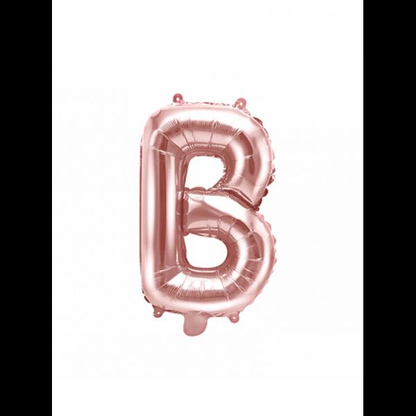 1 Ballon XS - Buchstabe B - Rosegold