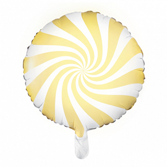 1 Ballon - Rund - Candy - Gelb