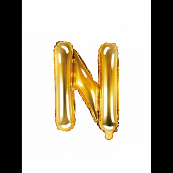 1 Ballon XS - Buchstabe N - Gold