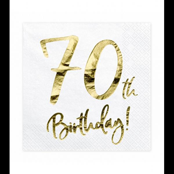 20 Servietten Trend - 33cm - 70th Birthday