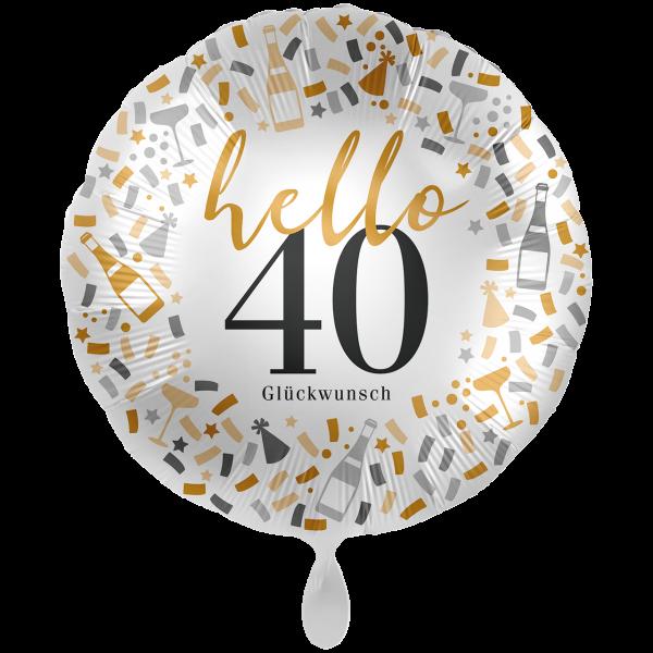 1 Ballon XXL - Hello 40