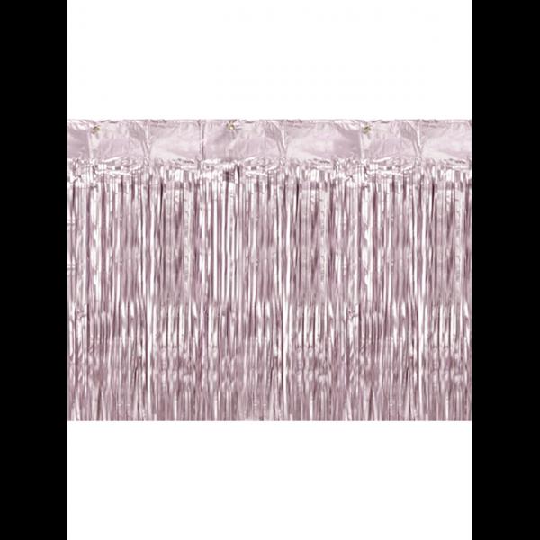 1 Glittervorhang - 2,5m - Altrosa