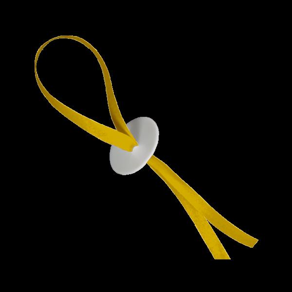 10 Ballonverschlüsse mit Band - Gelb