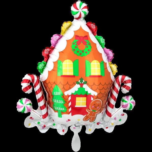1 Ballon XXL - Gingerbread House
