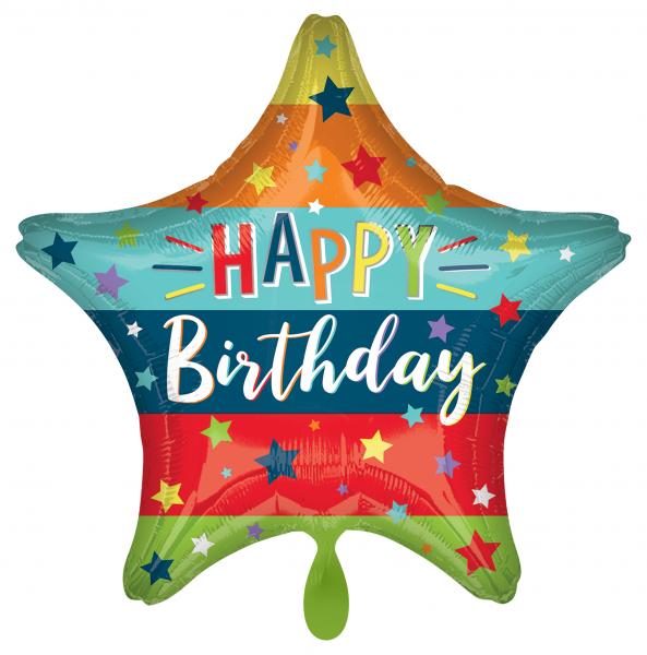 1 Ballon - Birthday Stars & Stripes