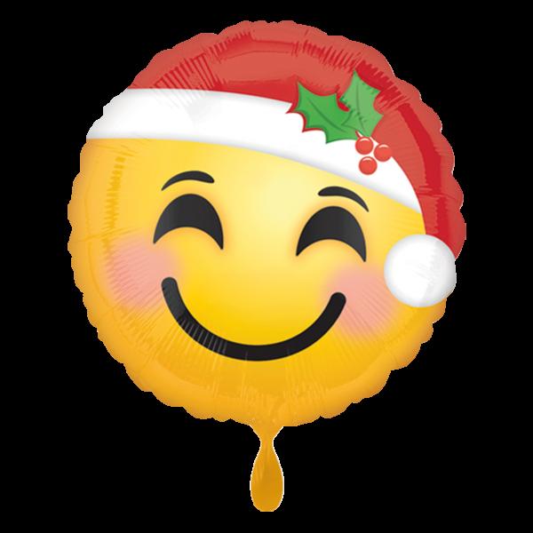 1 Ballon - Santa Hat Emoticon