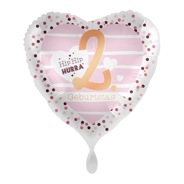 1 Ballon - 2. Geburtstag Hearts