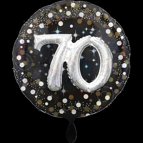 1 Ballon XXL - Sparkling Birthday 70