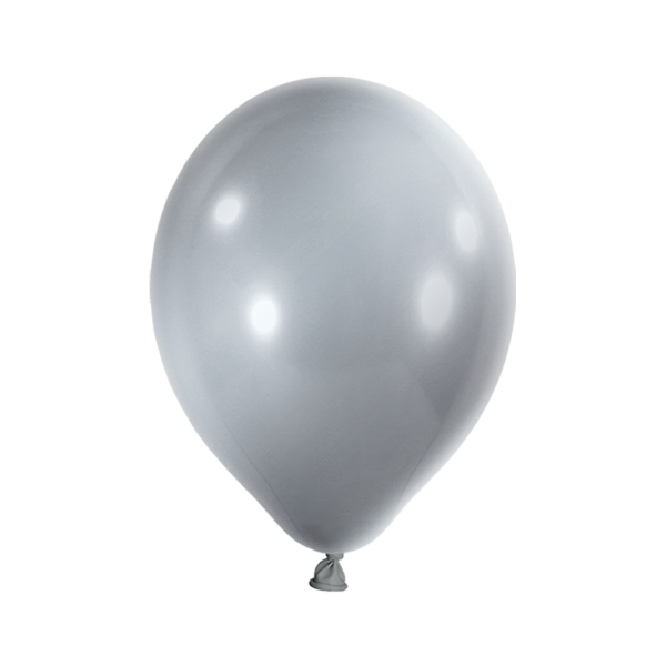 10 Luftballons - Ø 30cm - Metallic - Silber