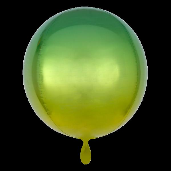 1 Ballon - Orbz - Gelb, Grün