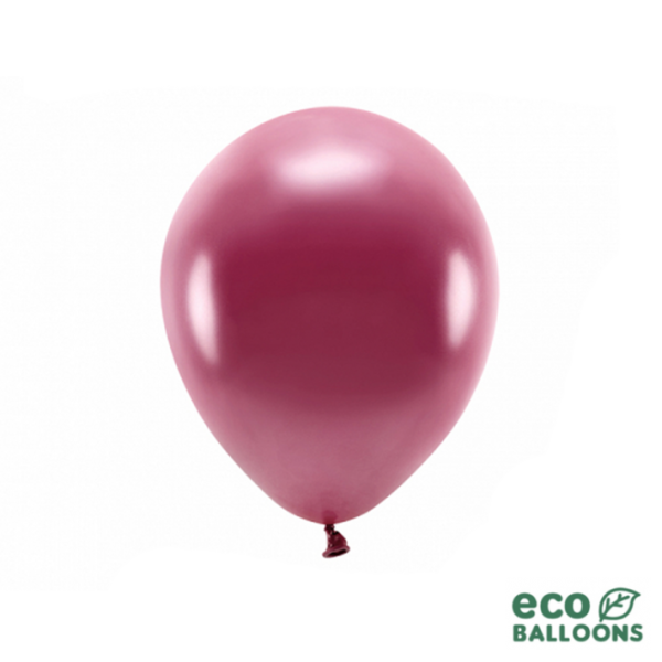 10 ECO-Luftballons - Ø 26cm - Metallic - Deep Red