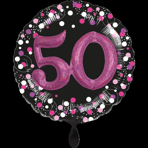 1 Ballon XXL - Sparkling Pink 50