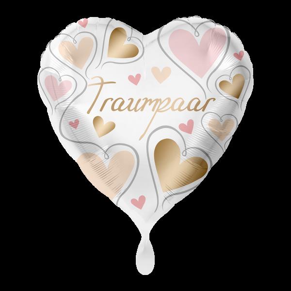 1 Ballon - Traumpaar Herzen