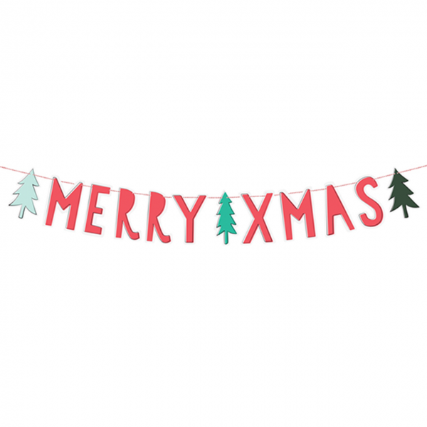 1 Bannergirlande - Merry XMAS