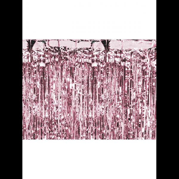 1 Glittervorhang - 2,5m - Rosegold