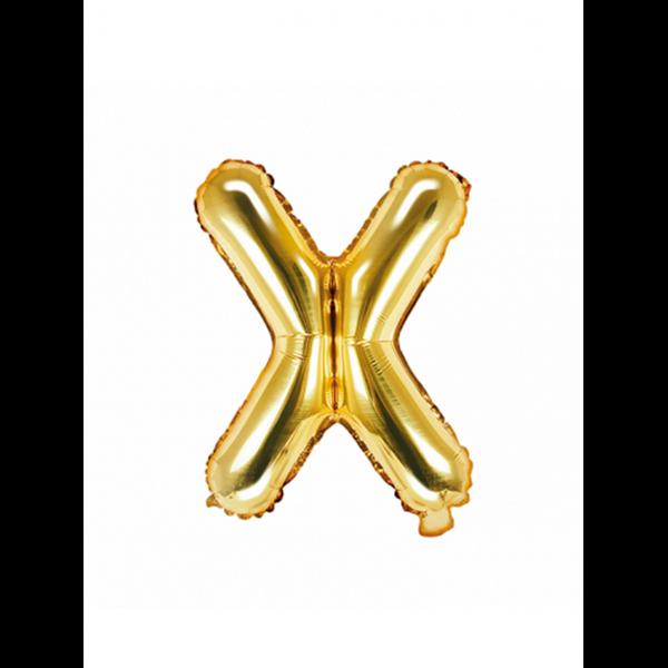 1 Ballon XS - Buchstabe X - Gold