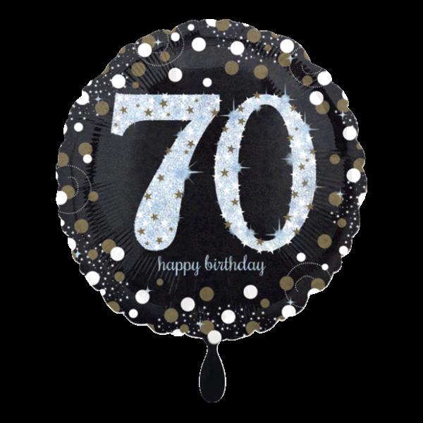 1 Ballon - Sparkling Birthday 70
