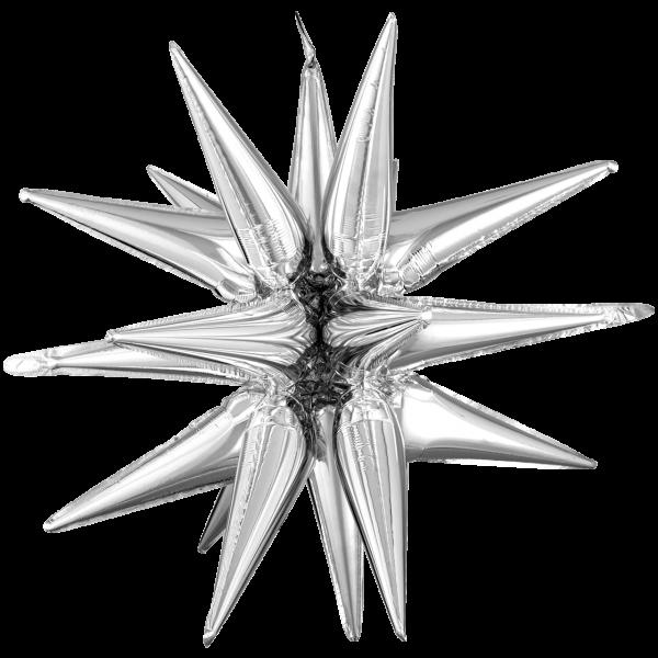 1 Ballon XXL - Magic Star - Large Silver