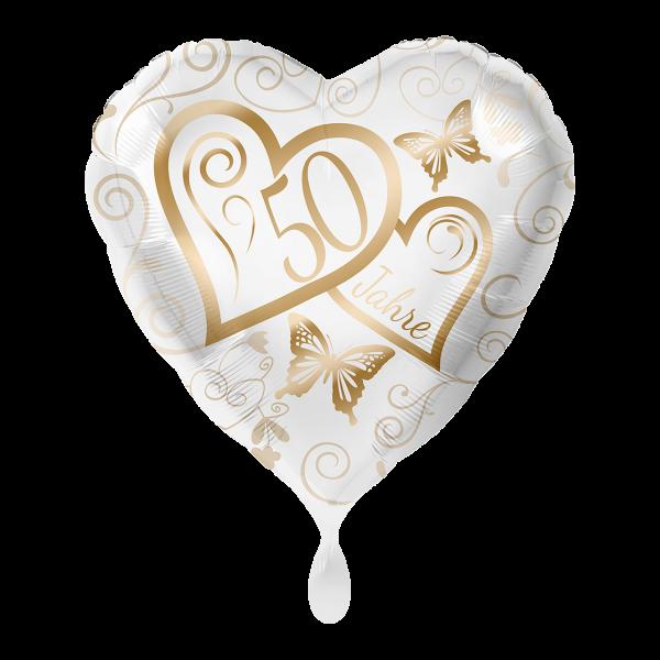 1 Ballon - Herzen 50 Jahre