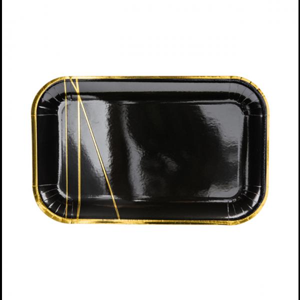6 Pappteller Trend - Ø 22cm - Elegant Black