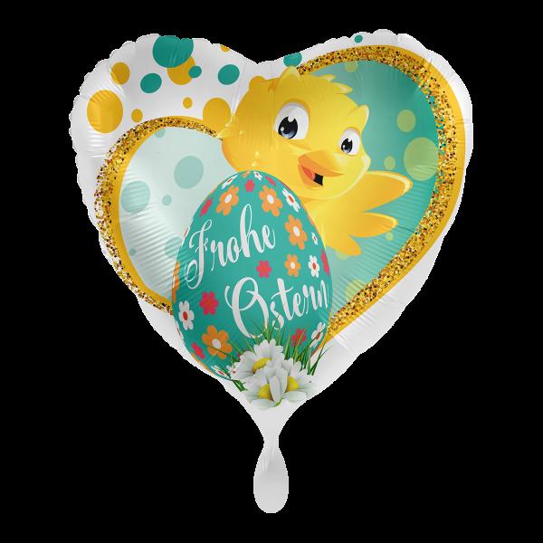 1 Ballon - Frohe Ostern Küken