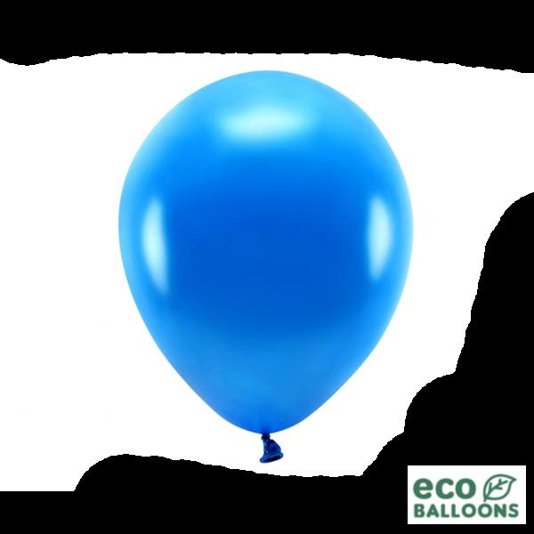 10 ECO-Luftballons - Ø 30cm - Metallic - Navy Blue