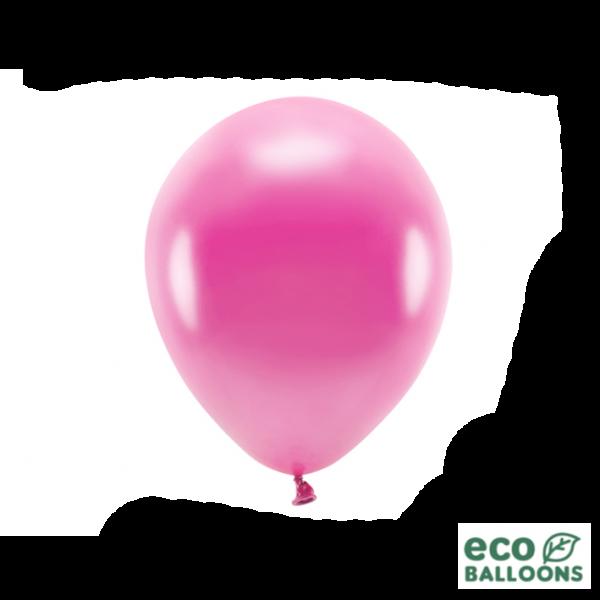 10 ECO-Luftballons - Ø 26cm - Metallic - Fuchsia