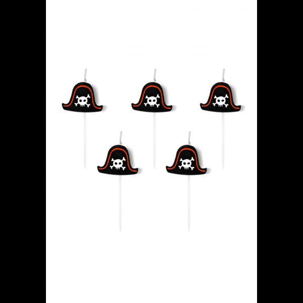 5 Kuchenkerzen - Pirat