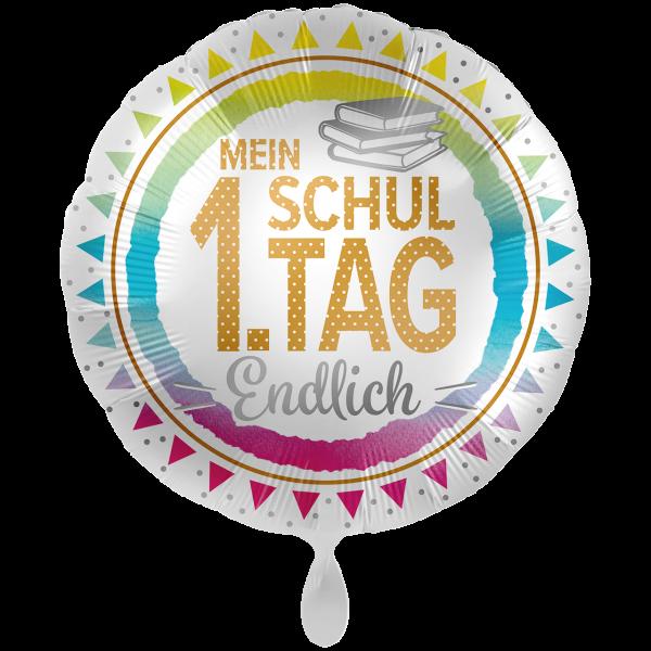 1 Ballon XXL - Mein 1. Schultag - Endlich