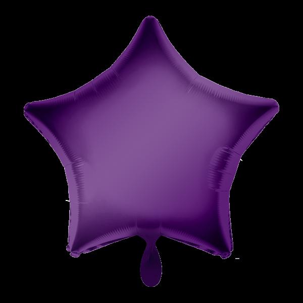 1 Ballon - Stern - Lila