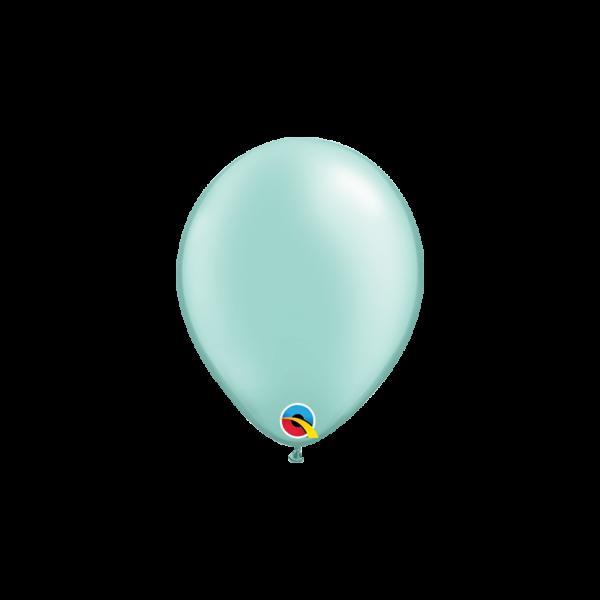 100 Miniballons - Ø 15cm - Pastel Pearl - Mint Green