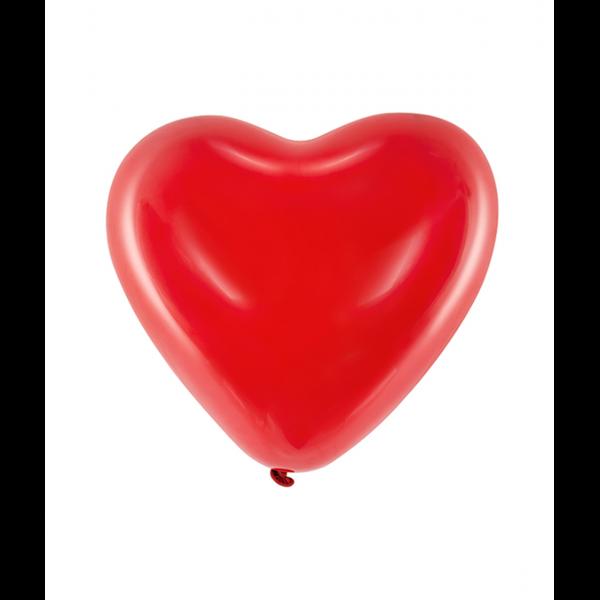 100 Herzballons Decor - Ø 25cm - Rot