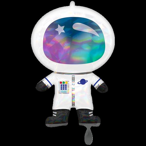 1 Ballon XXL - Iridescent Astronaut