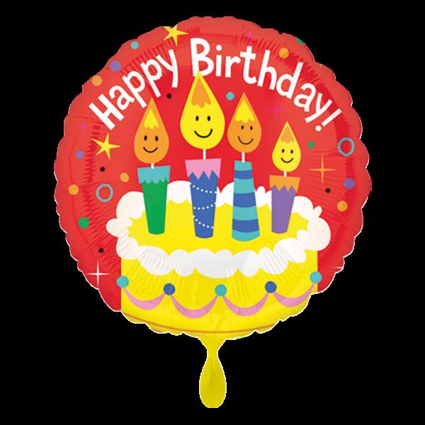 1 Ballon - Happy Birthday Candles